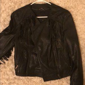 Banana Republic Fringe Leather Jacket